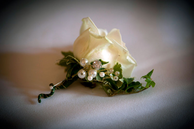 Classic vintage pink wedding flowers buttonhole Down Hall Hotel Essex