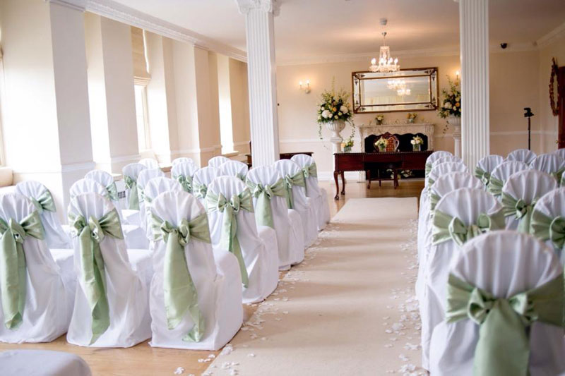 Peach and mint wedding flowers Parklands Quendon Hall Essex