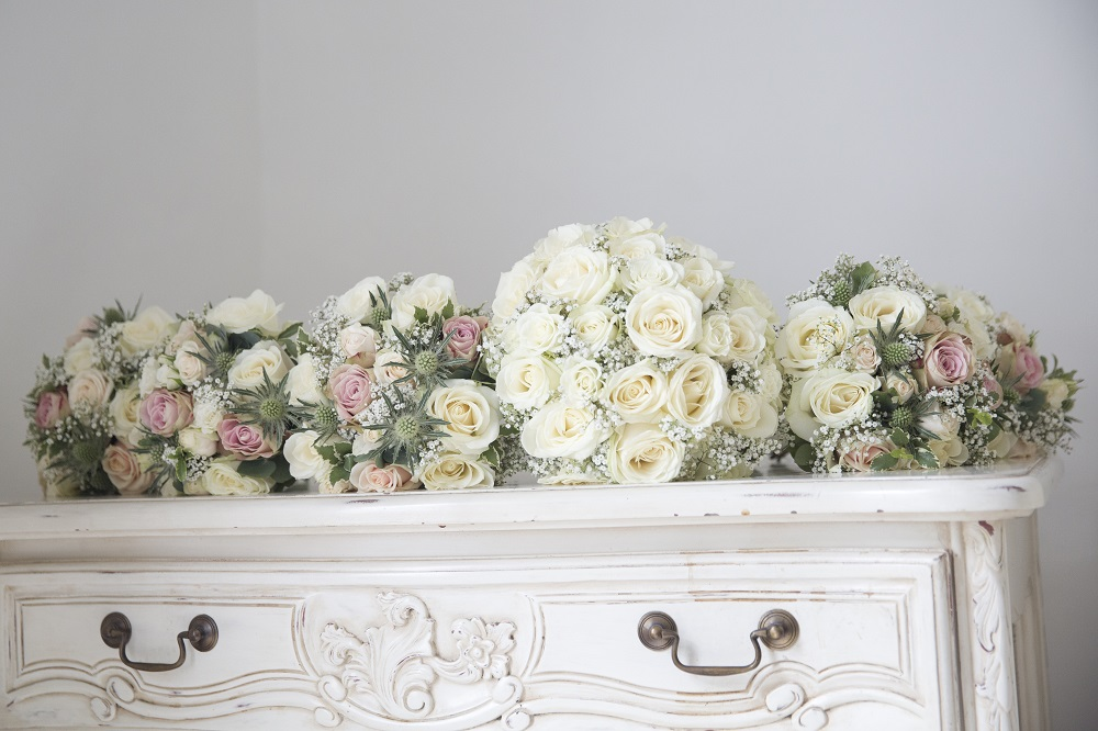 Enchanted secret garden wedding flowers bouquets Hertfordshire Widford Church Much Hadham Marquee