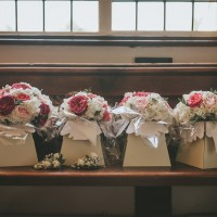 Bouquets and corsages all ready and waiting