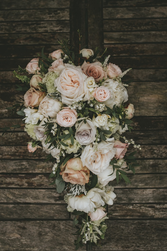 Blush grey/ or Vintage bright wedding flowers bouquet Theydon Garnon church Epping