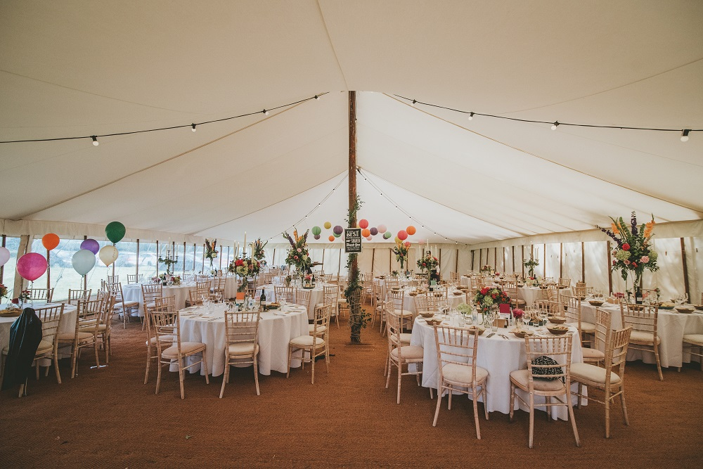 Blush grey/ or Vintage bright wedding flowers table set up Theydon Garnon church Epping marquee