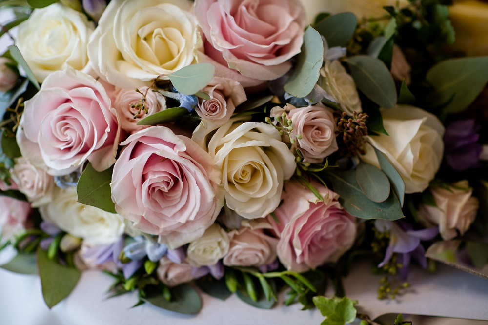 pretty pastel colours wedding flowers bouquet florist colville hall essex wedding venue